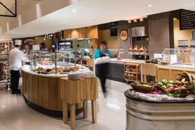 The Marketplace, located in The Fremont Tower at St. Elizabeth Hospital Photo courtesy of Affinity Health System