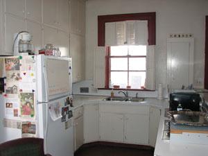 Current 1966 design of Hearthstone's kitchen. Photo by Julia Schnese