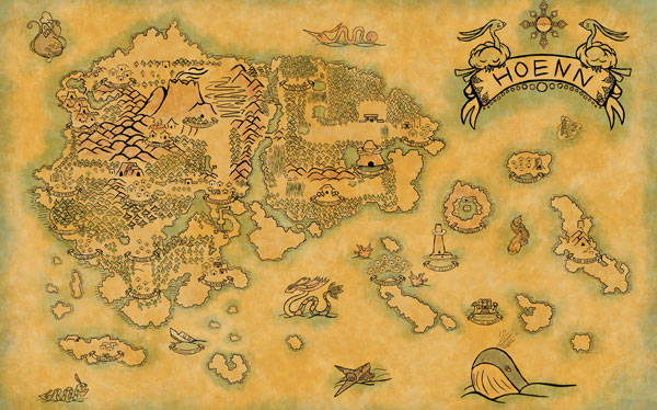 Hoenn Map Pokemon